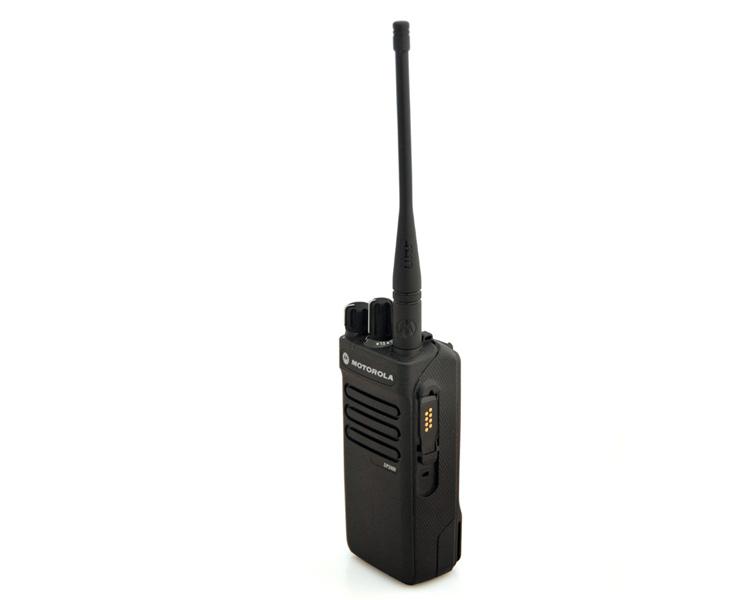 Motorola DP2000 Digital Mototrbo Radio - Side View